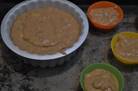 banana chocolate parquet cake